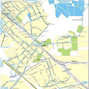 Карта города Люберцы Московской области, карта г. Люберец